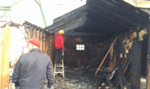 burned garage needing fire damage restoration in Idaho Falls